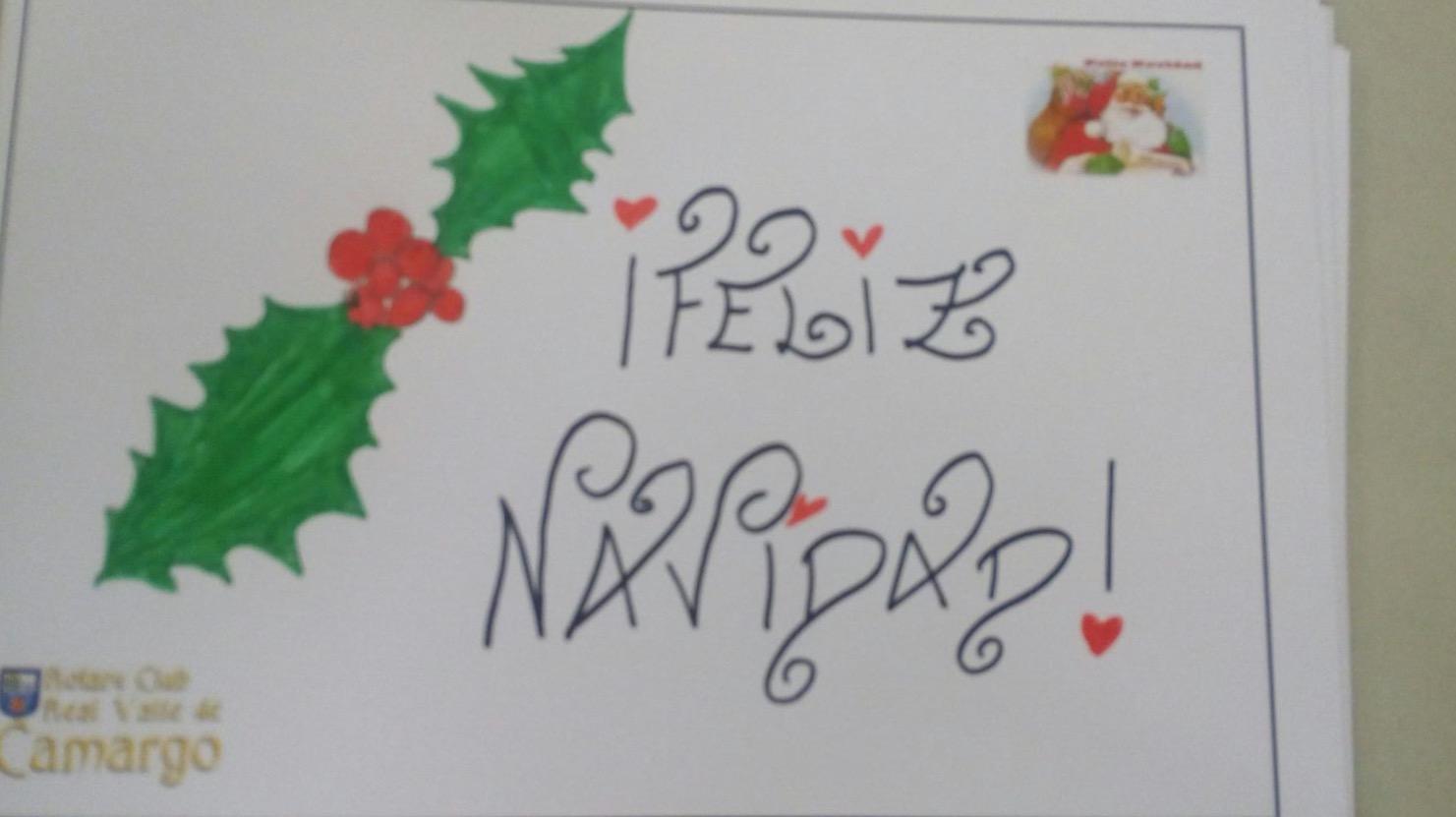 ms de nios se renen en el centro cultural la vidriera para dedicar unas postales de navidad dirigidas a las personas necesitadas que son ayudadas a
